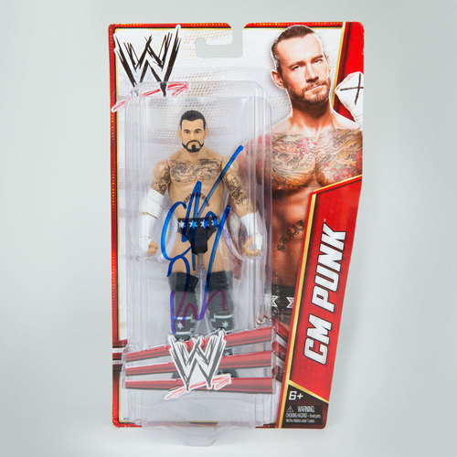 CM Punk SIGNED Mattel Signature Series 2012 Action Figure