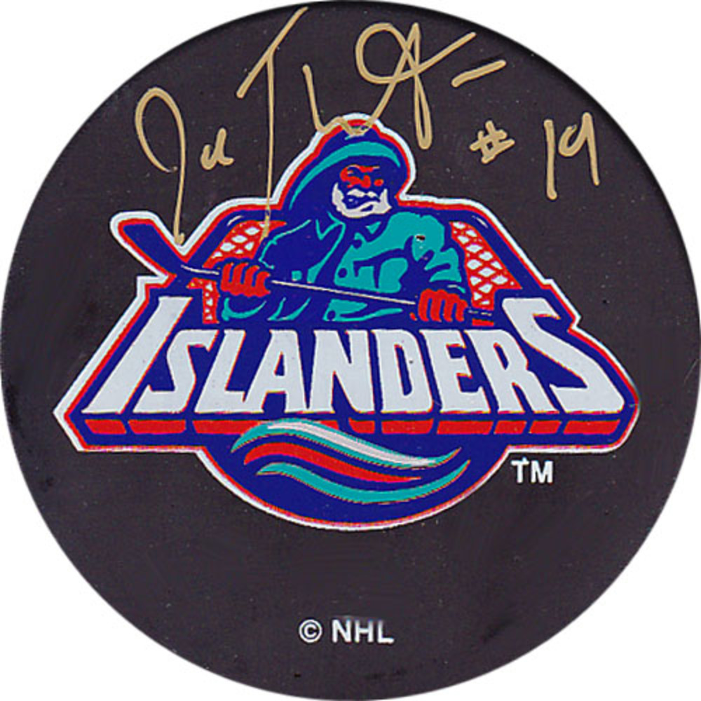 Joe Thornton Autographed New York Islanders Puck