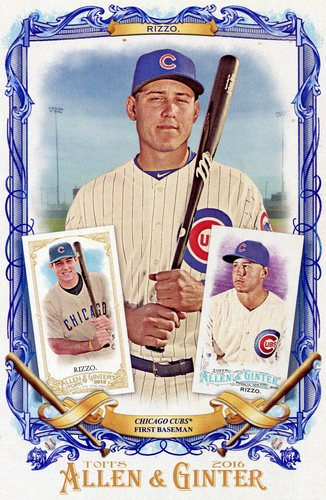 Photo of 2016 Topps Allen and Ginter Box Toppers #BLAR Anthony Rizzo