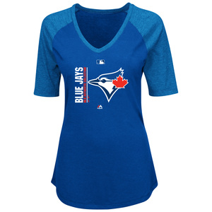 Toronto Blue Jays Women's Icon Raglan T-Shirt by Majestic