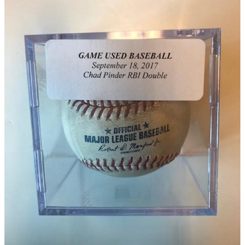 Photo of Game-Used Baseball: Chad Pinder RBI Double