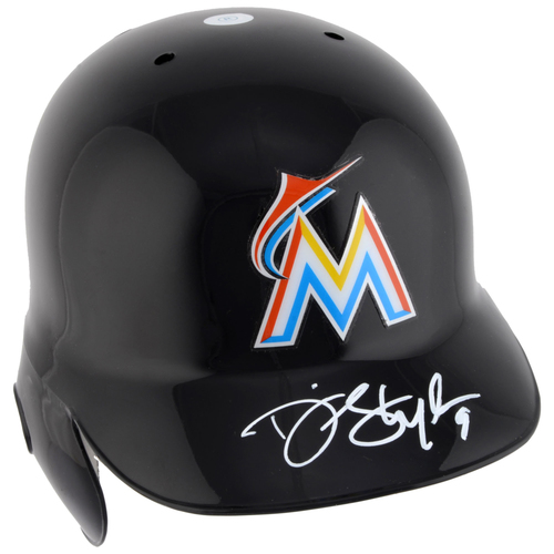 Photo of Dee Gordon Miami Marlins Autographed Replica Batting Helmet