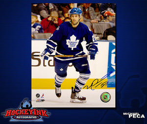 MICHAEL PECA Signed Toronto Maple Leafs 8 X 10 Photo - 70382
