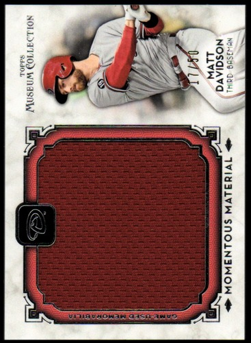 Photo of 2014 Topps Museum Collection Momentous Material Jumbo Relics #MMJRMV Matt Davidson