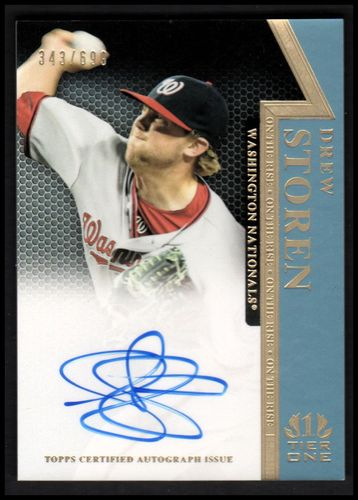 Photo of 2011 Topps Tier One On The Rise Autographs #DS Drew Storen/699