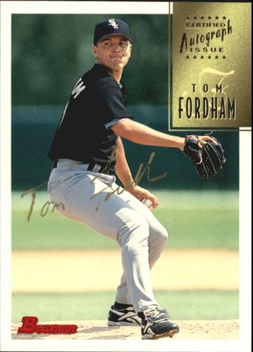 Photo of 1997 Bowman Certified Gold Ink Autographs #CA26 Tom Fordham