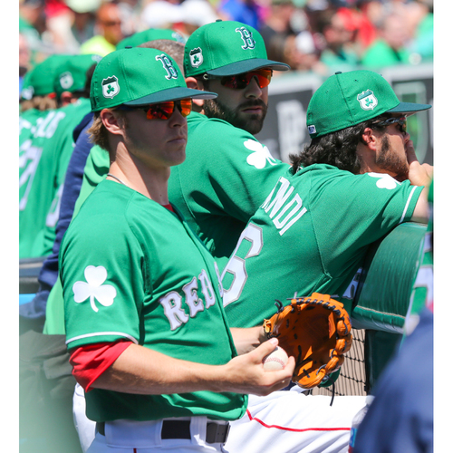 Photo of Red Sox Foundation St. Patrick's Day Jersey Auction - Brock Holt Game-Used & Autographed Jersey