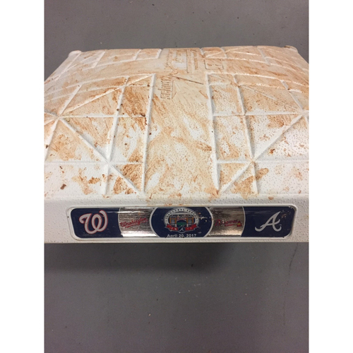 Photo of Game-Used 3rd Base used 1-3 Innings on April 20, 2017