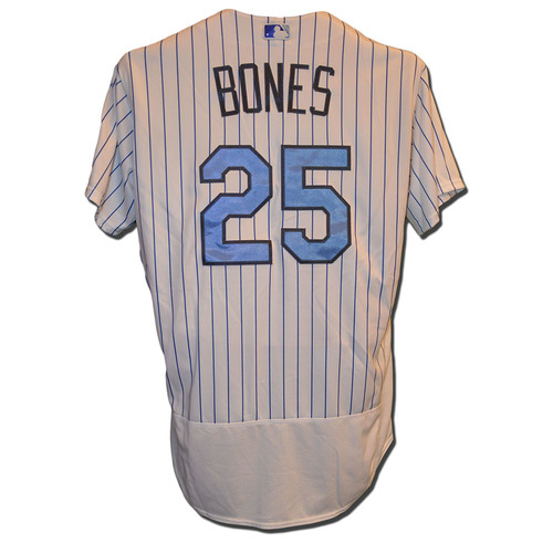 Photo of Ricky Bones #25 - Game Used Father's Day Jersey - Mets vs. Nationals - 6/18/17