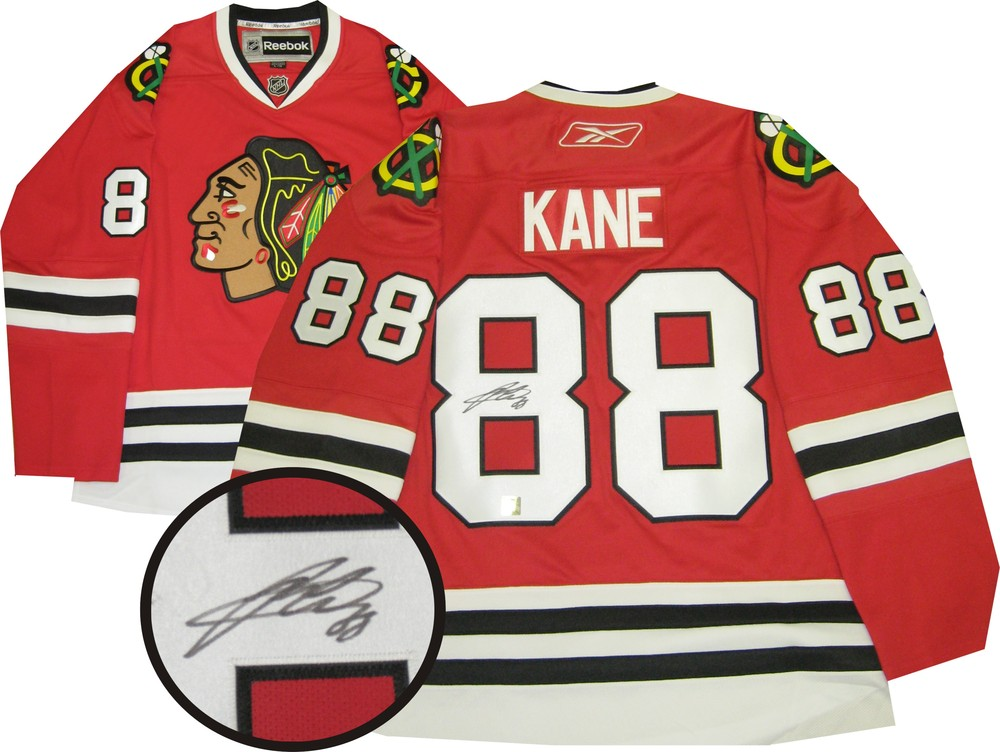 Patrick Kane - Signed Red Chicago Blackhawks Reebok Premier Jersey