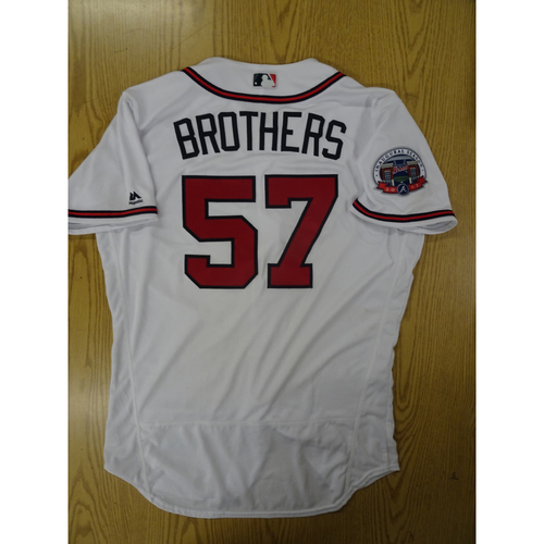 Photo of Rex Brothers Game-Used Los Bravos Jersey - Worn 9/17/17 at SunTrust Park