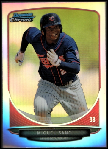 Photo of 2013 Bowman Chrome Draft Top Prospects Refractors #TP45 Miguel Sano -- Twins post-season
