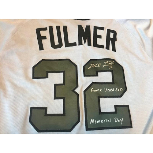 Photo of Autographed Game-Used Memorial Day Jersey:  Michael Fulmer