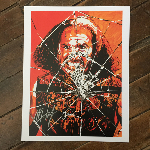 Photo of Matt Hardy SIGNED 11 x 14 Rob Schamberger Print
