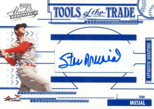 Photo of 2005 Absolute Memorabilia Tools of the Trade Autograph #183 Stan Musial/150