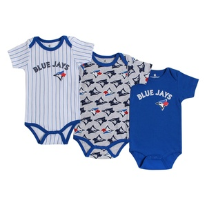 Toronto Blue Jays Newborn/Infant 3 Piece Bodysuit Set by Snugabye