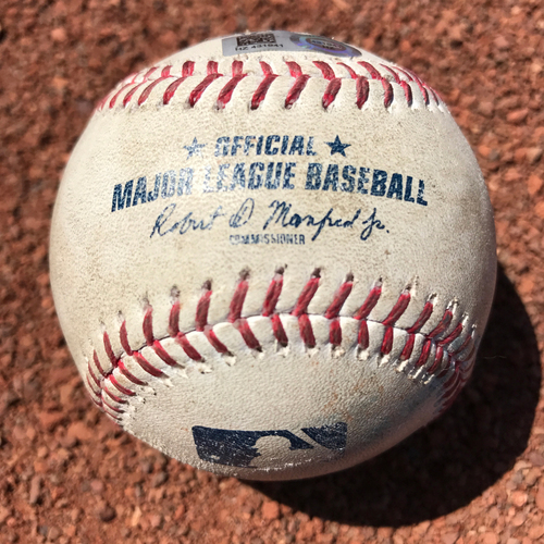 Photo of San Francisco Giants - 2017 Game-Used Baseball - Buster Posey Groundout