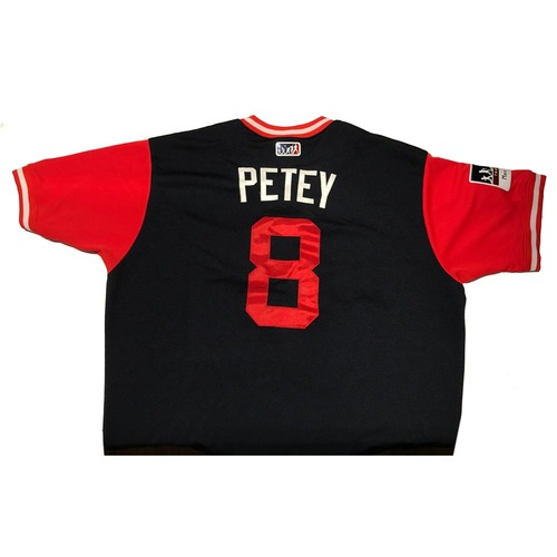 "Photo of Jace ""Petey"" Peterson Atlanta Braves Game-Used Players Weekend Jersey"