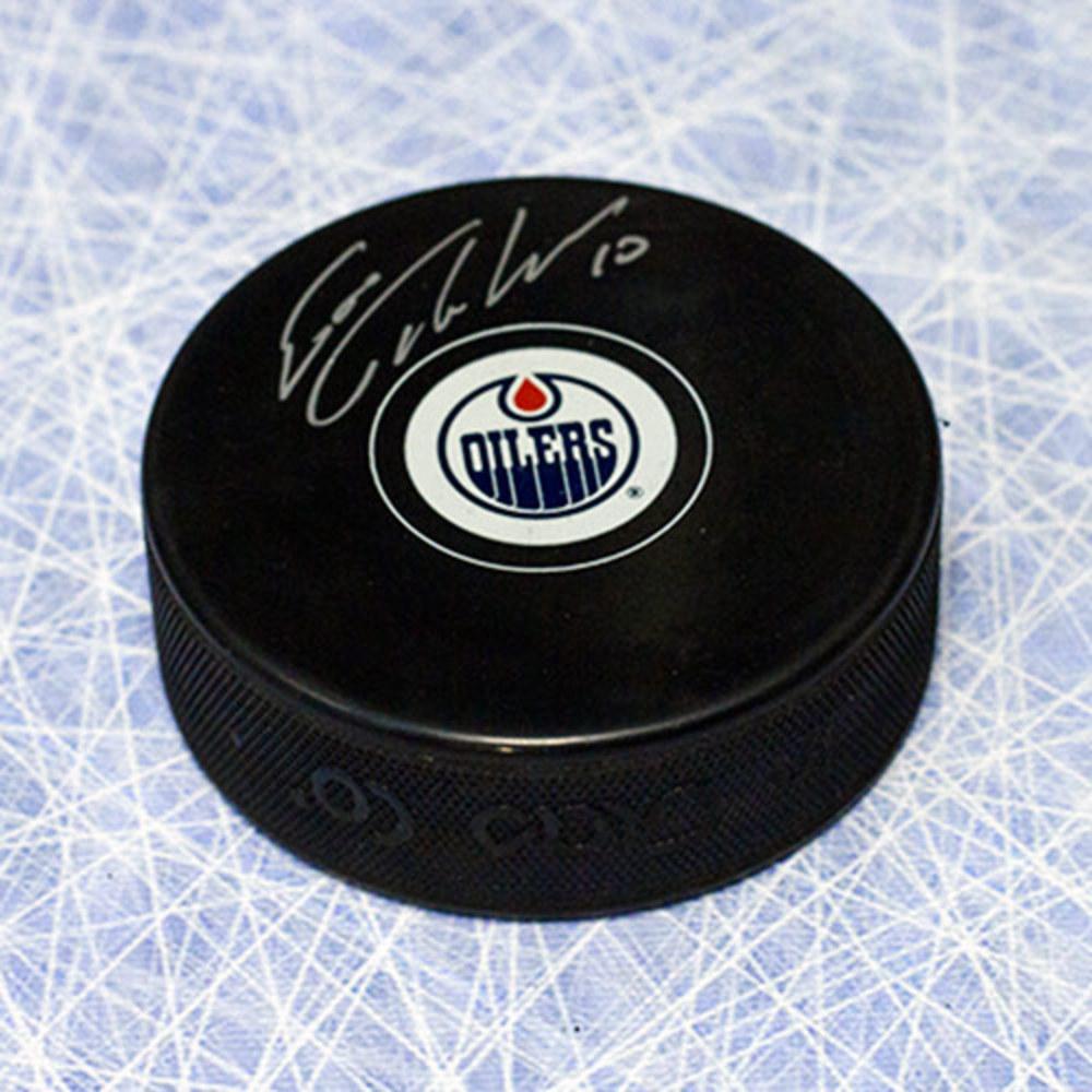 Esa Tikkanen Edmonton Oilers Autographed Hockey Puck