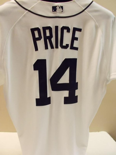 Photo of Game-Used David Price Home Jersey