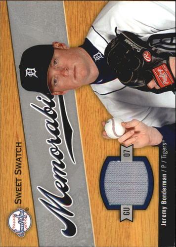 Photo of 2007 Sweet Spot Sweet Swatch Memorabilia #BO Jeremy Bonderman
