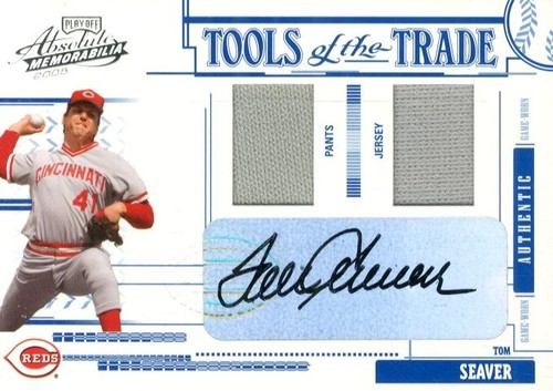 Photo of 2005 Absolute Memorabilia Tools of the Trade Autograph Swatch Double #41 Tom Seaver J-P/25