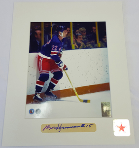 Bobby Rousseau Signature New York Rangers 8x10 Custom Matted Photo