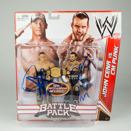 Mattel Battle Pack Series 17 Action Figures SIGNED by CM Punk & John Cena
