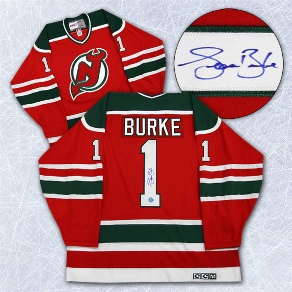 Sean Burke New Jersey Devils Autographed Retro CCM Hockey Jersey