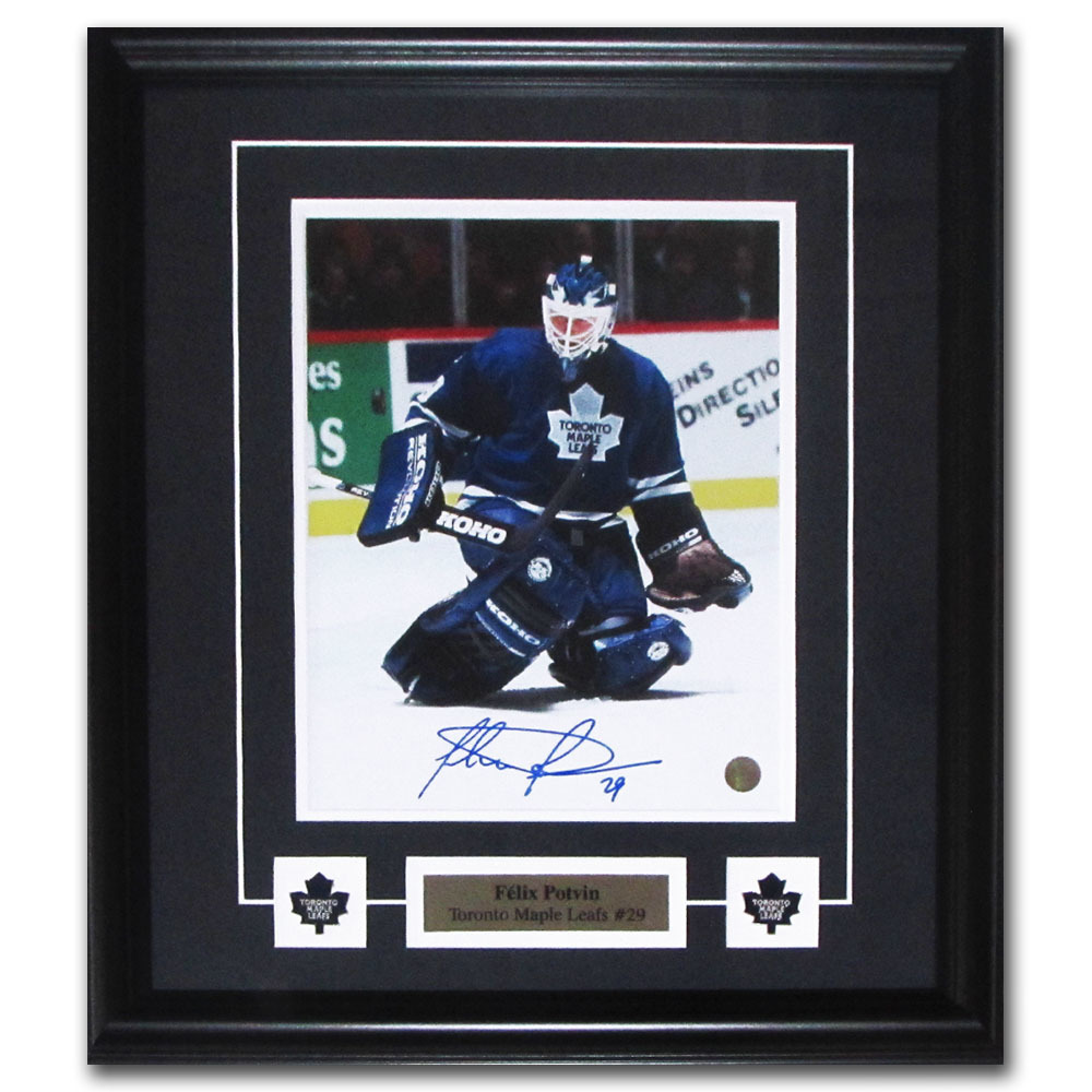 Felix Potvin Autographed Toronto Maple Leafs Framed 8X10 Photo