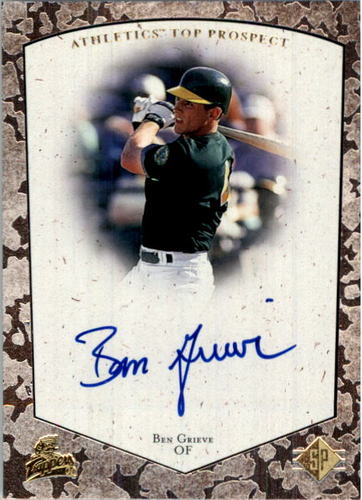 Photo of 1998 SP Top Prospects Autographs #BG Ben Grieve
