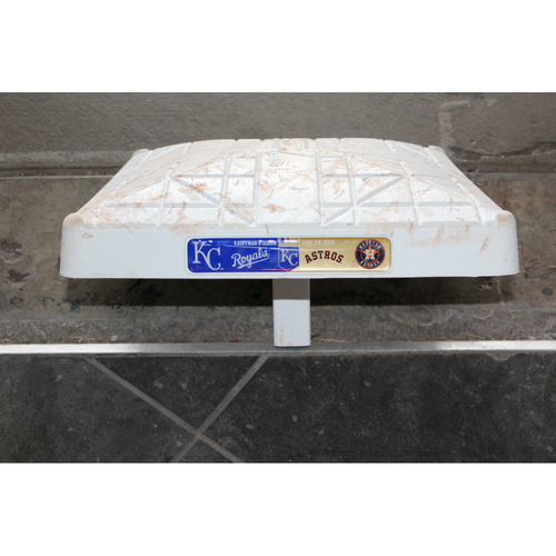 Photo of Game-Used 2nd Base: (June 24, 2016 - HOU at KC )
