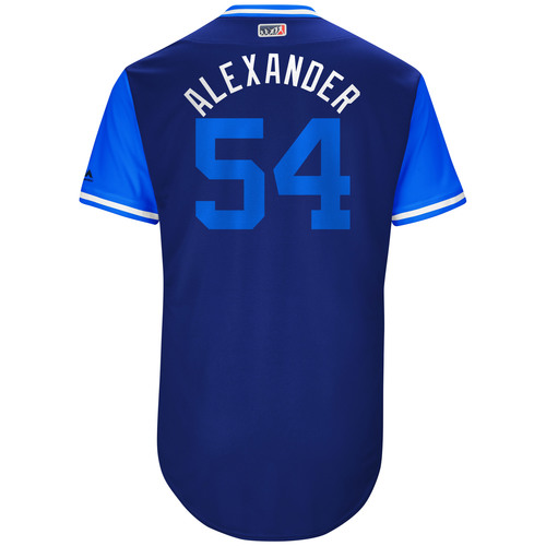 "Photo of Scott ""Alexander"" Alexander Kansas City Royals Game-Used Players Weekend Jersey"