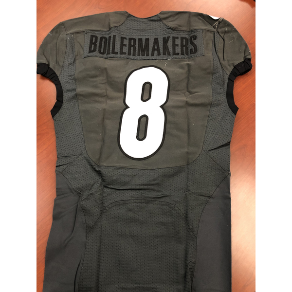 Gray Purdue Boilermakers #8 Football Jersey Size 40