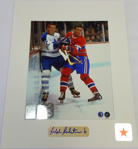 Ralph Backstrom Signature Montreal Canadiens 8x10 Custom Matted Photo