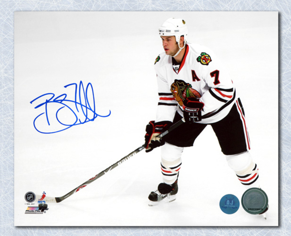 Brent Seabrook Chicago Blackhawks Autographed Overhead 8x10 Photo