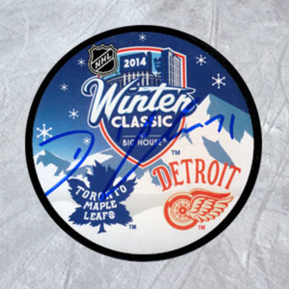 DAVID CLARKSON Toronto Maple Leafs Autographed 2014 Winter Classic Hockey Puck