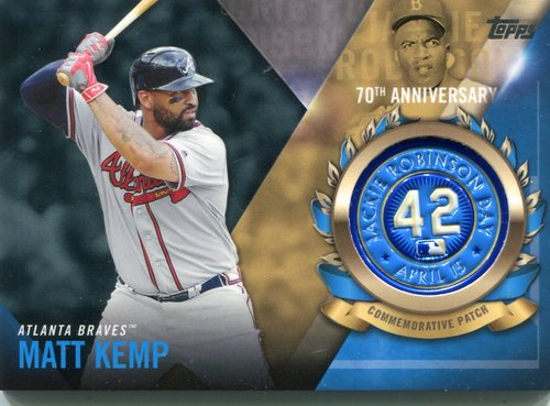 Photo of 2017 Topps Jackie Robinson Logo Patches #JRPCMK Matt Kemp