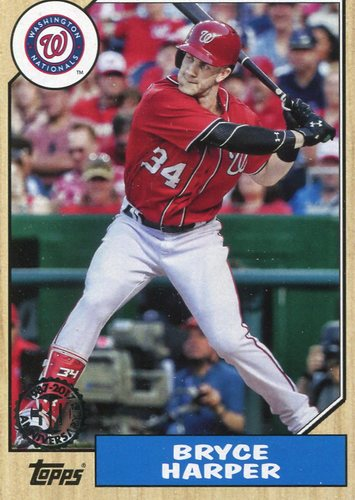 Photo of 2017 Topps '87 Topps #8775 Bryce Harper