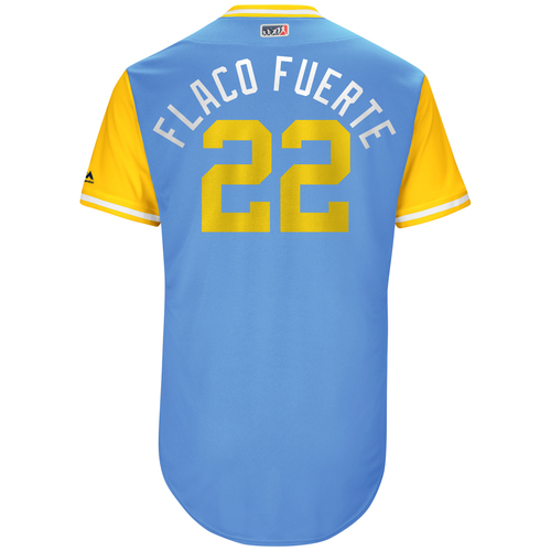 "Photo of Chris ""Flaco Fuerte"" Archer Tampa Bay Rays Game-Used Players Weekend Jersey"