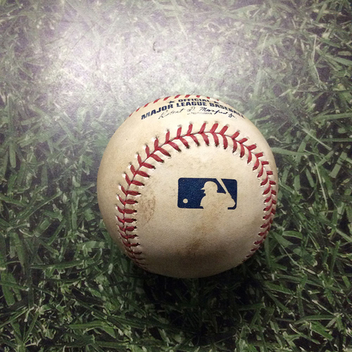 Photo of Game-Used Baseball 06/21/17 PIT@MIL - Junior Guerra to John Jaso: RBI Double