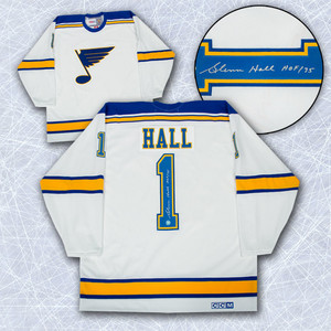 Glenn Hall St. Louis Blues Autographed Retro CCM Hockey Jersey