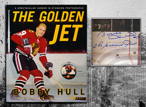Bobby Hull THE GOLDEN JET Signed Hardcover Book