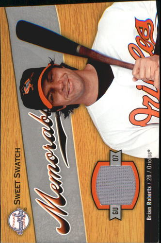 Photo of 2007 Sweet Spot Sweet Swatch Memorabilia #BR Brian Roberts