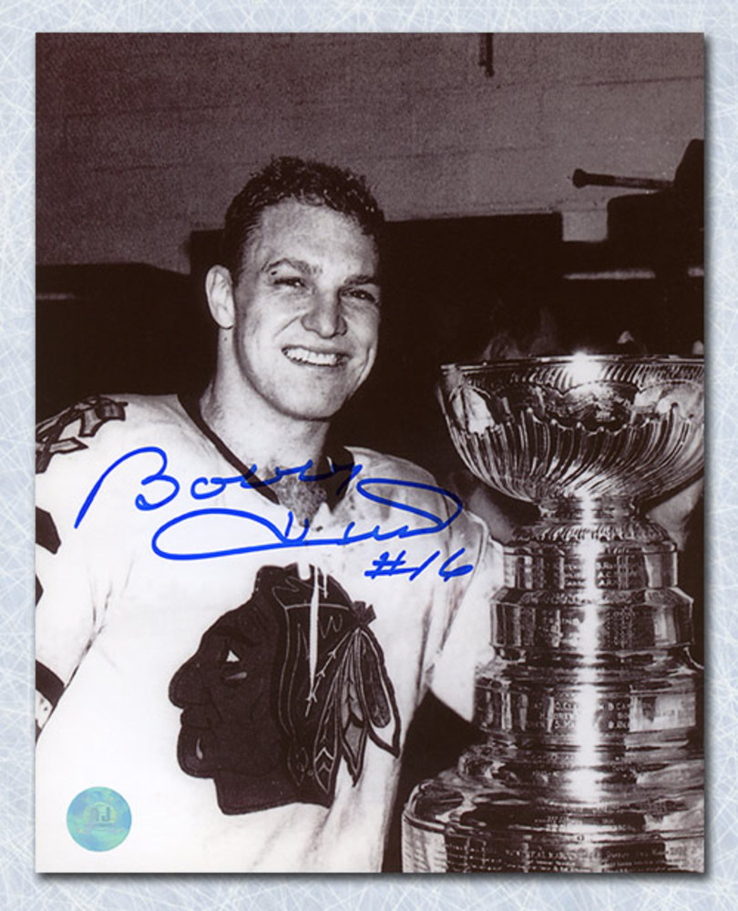 Bobby Hull Chicago Blackhawks Autographed 1961 Stanley Cup 8x10 Photo