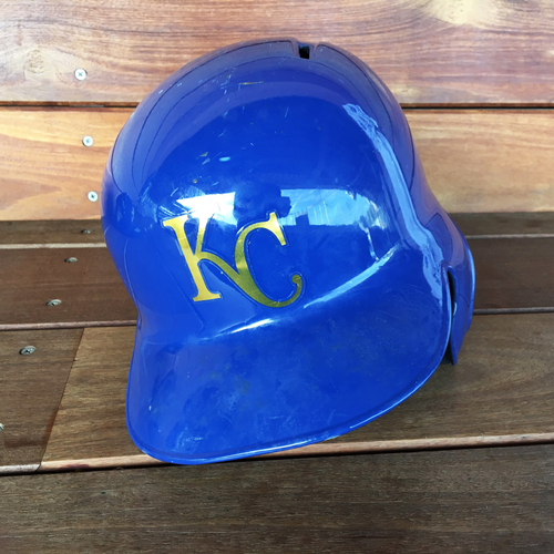 Photo of Hunter Dozier Game-Used Helmet (First Career RBI) (9/16/16) - Size 7 3/8