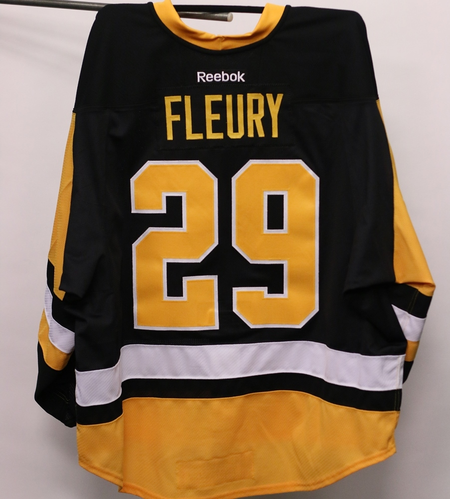 """Marc-Andre Fleury Pittsburgh Penguins """"Jerseys For Warmth ..."""