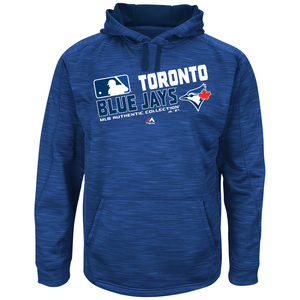 Toronto Blue Jays Big & Tall Authentic Collection Team Choice Hoody by Majestic