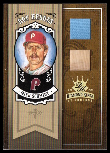 Photo of 2005 Diamond Kings HOF Heroes Materials Gold #25 Mike Schmidt Bat-Jsy/25