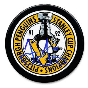 Jaromir Jagr Pittsburgh Penguins 1992 Stanley Cup Champions Autographed Puck